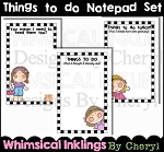 Things to do Notepad Set