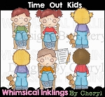 Time Out Kids  Clipart Collection