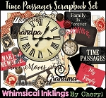 Time Passages Scrapbook Set and Matching Papers
