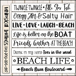 Toes In The Sand Beach Sign SVG Bundle