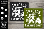 Tractor Parking Only SVG