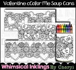 Valentine Color Me Soup Can Wrappers