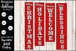 Vertical Christmas Sentiments Sign SVG Set