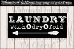 Vintage Laundry Sign SVG