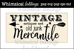 Vintage Mercantile Sign SVG