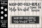 Wash Dry Fold Repeat SVG