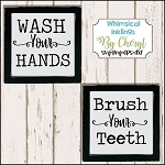 Wash Your Hands Brush Your Teeth SVG Cutter Files