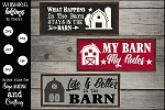 What Happens In The Barn SVG Set