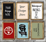 Wooden Frame Mock Ups Collection SIX