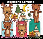 Woodland Camping Clipart Collection