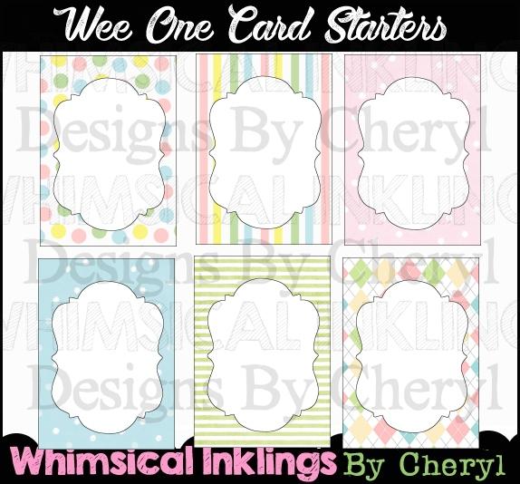 Wee Ones Card Starters