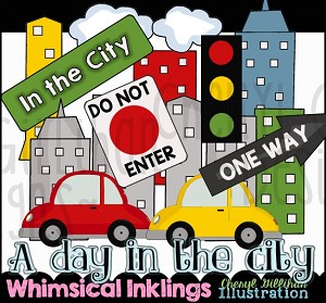 A Day In The City Clipart Collection