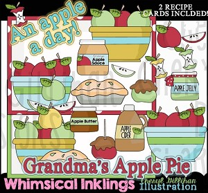 An Apple a Day Clipart Collection