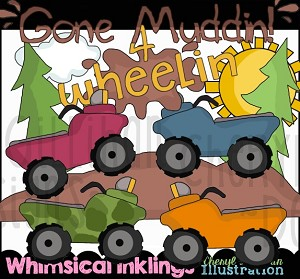 Gone Muddin Clipart Collection