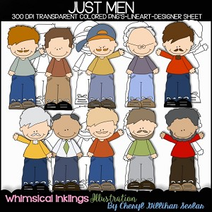 Just Men Clipart Collection