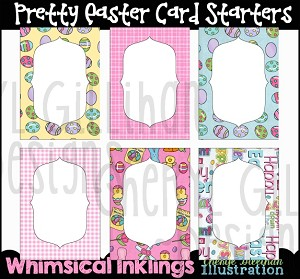 Pretty Easter Card Starters