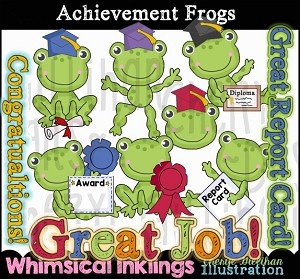 Achievement Frogs Clipart Collection