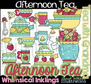 Afternoon Tea Clipart Collection