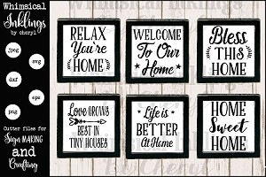 All About Home SVG Sign Mini Bundle
