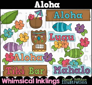 Aloha Clipart Collection