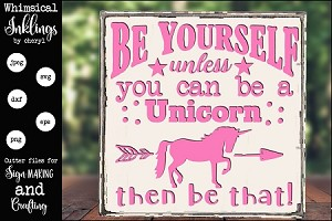 Always Be A Unicorn SVG