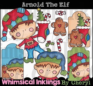 Arnold the Elf Clipart Collection