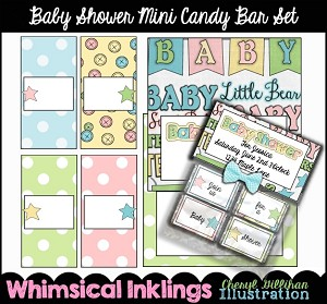 Baby Shower Mini Candy Bar Wrappers