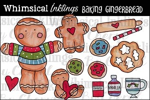 Baking Gingerbread Clipart Collection