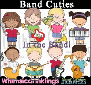 Band Cuties Clipart Collection