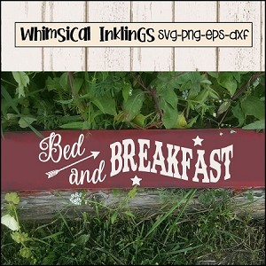 Bed and Breakfast Two SVG Cutter File