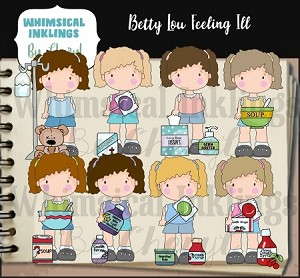 Betty Lou Feeling Ill RESELLERS LIMITED SET