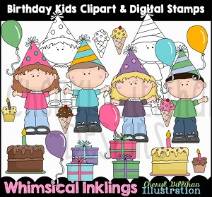 Birthday Kids Clipart Collection