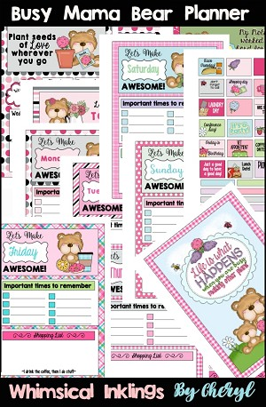 Busy Mama Bear Planner