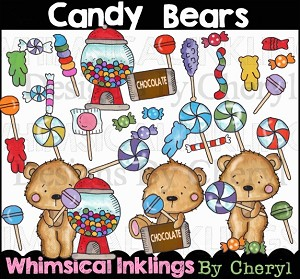 Candy Bears Clipart Collection