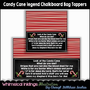 Candy Cane Legend Bag Toppers
