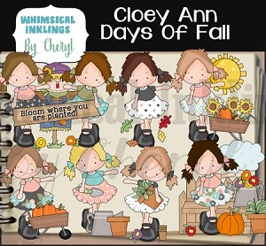 Cloey Ann Days Of Fall RESELLERS IMITED SET