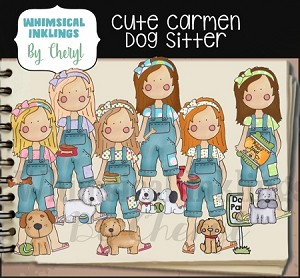 Cute Carmen Dog Sitter RESELLERS LIMITED SET