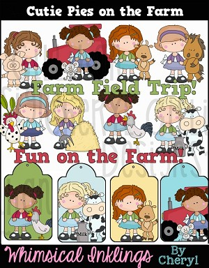 Cutie Pies On The Farm Clipart Collection