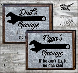 Dads Garage SVG Files
