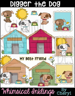 Digger The Dog Clipart Collection