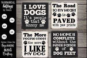 Dog Lovers Magnet-Sign Set