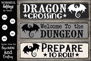 Dragon Crossing SVG set