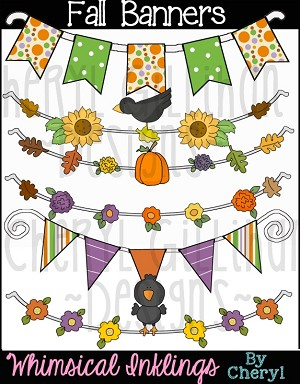 Fall Banners Clipart Collection