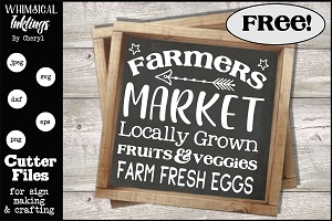 Farmers Market SVG Cutter File