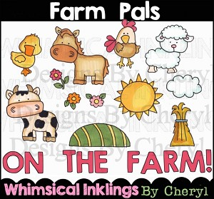 Farm Pals Clipart Collection