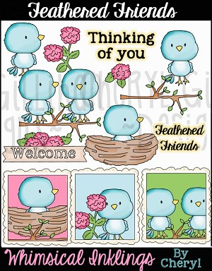 Feathered Friends Clipart Collection