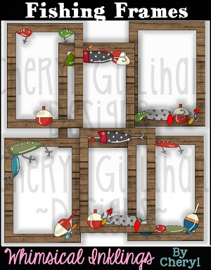 Fishing Frames Clipart Collection