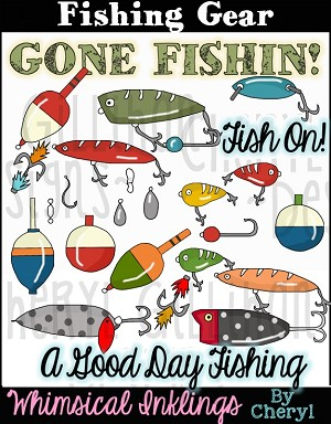 Fishing Gear Clipart Collection