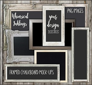Framed Chalkboard Mock Up Collection