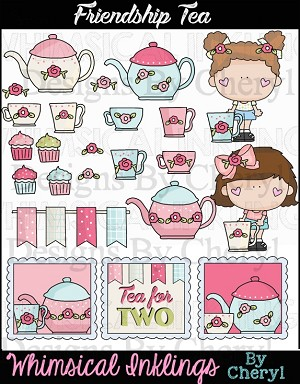 Friendship Tea Clipart Collection